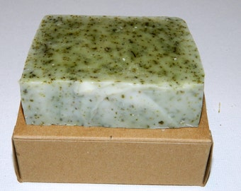 Two Handmade natural Nettle soap unscented with shea butter no palm oil vegan good for psoriasis, eczema by Mijubeauty ukge