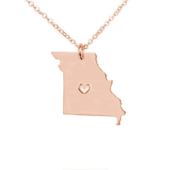 missouri necklace goldmo missouri state by