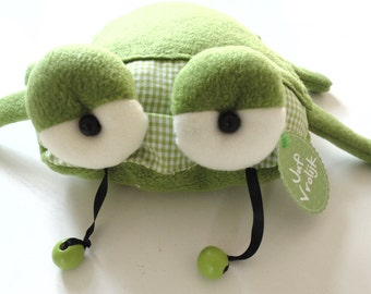 handmade rattle toy beetle