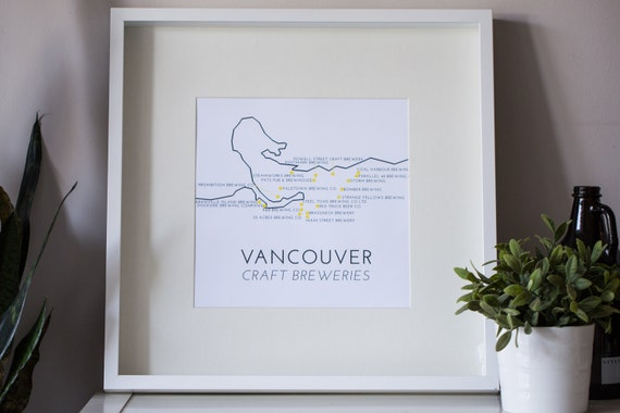 Craft Brewery Map Vancouver Craft Brewery Map