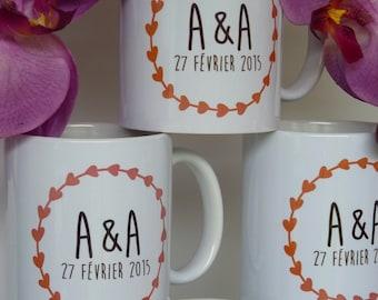 custom initial wedding mug