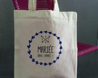 """tote bag """"bride"""""""