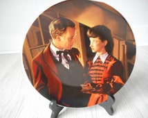 Vintage Gone with the wind porcelaine rare sample collectors plate
