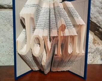 Joyful - Folded Book Art - Fully Customizable, Joy, happiness, life, purposeful