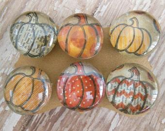 "Magnet Set ""Pumpkin Patch"" Collection, Halloween,Autumn,Fall,Seasonal,Chevron & Polka Dot,Fridge Magnet Magnetic Board Home Office Organizer"