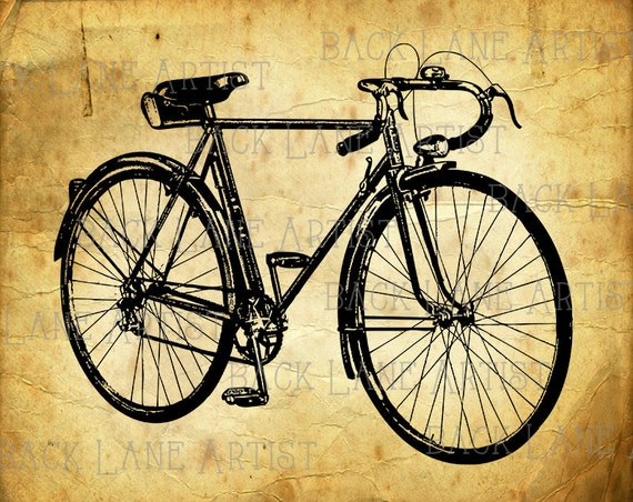 Vintage Bicycle Clipart Lineart Illustration Instant DownloadI PNG JPG Digi Image Drawing L984 From BackLaneArtist On Etsy Studio