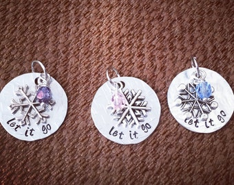 Let It Go Custom Hand Stamped Necklace