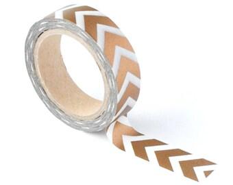 Copper Chevron Washi Tape