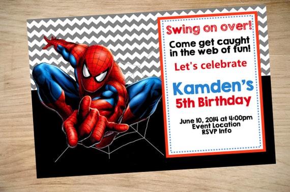 Spider Man Birthday Invitation Spider Man Invitation, Einladungskarten