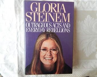Gloria Steinem Signed First Edition 1983