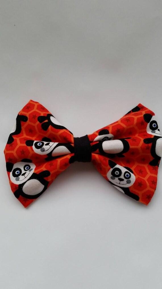 panda hair bow boys bow tie bow tie