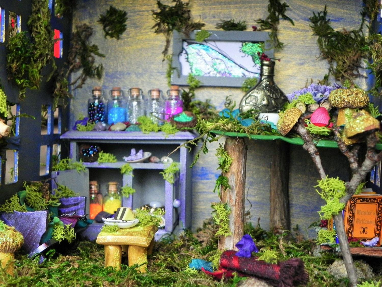 magical fairy house fairy dollhouse fairy garden indoor. Black Bedroom Furniture Sets. Home Design Ideas