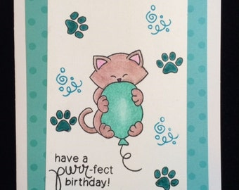 Have A Purr-fect Birthday Greeting Card