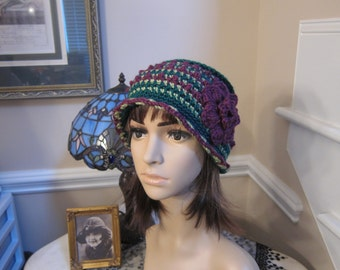 100% Wool 20's Style Flapper Winter Hat