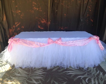 Tutu table skirt