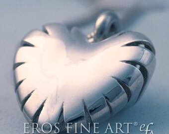 """Herzanhänger """"Lucent Heart"""" - extravaganter Silberanhänger, Erotikschmuck, Geschenk, Liebe, Herz, Valentin, Herzschmuck, Silberschmuck"""