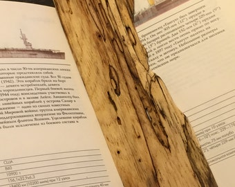 Wooden Bookmark - Natural Hickory