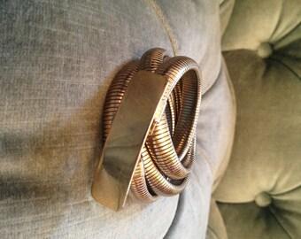 Vintage 1970's Coil Belt Gold Size S/M