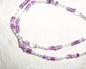 CUSTOM ORDER for Becky: purple eyeglass neckace