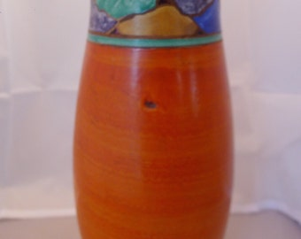 1930s Joyous Pottery hand thrown vase