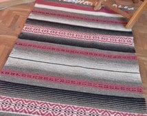 Handwoven rug, handwoven wool rug, handwoven kilim rug, handwoven rug runner, home decor handwoven rug