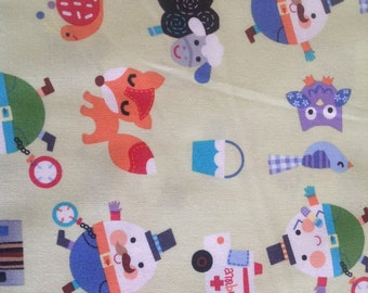Mother goose. 100% cotton.  114cm wide.