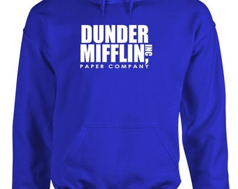 Great for wearing at the office Dunder Mifflin paper company hoodie sweatshirt hooded sweat shirt