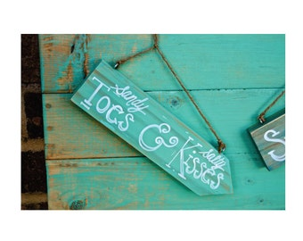 Hand Painted Beach Sign -Distressed