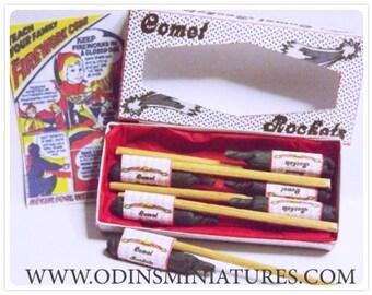 Miniature dolls house Rocket Fireworks