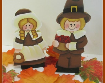 Thanksgiving Pilgrim kids.