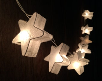 20 x White star paper string light for decor ,bedroom, wedding, party, garden,lamp,lantern