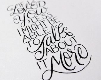 Jane Austen, Emma - 4x6 Hand-lettered Print