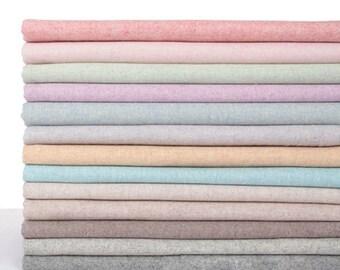 Woolies Woollies Flannel,Woolen winter fabric, Wool flannel, Flannelette Fabric, 9 colors   - 1/2 yard