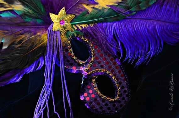 MARDI GRAS CARNIVAL Mask Photograph, New Orleans , Louisiana