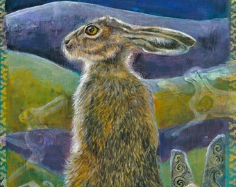 Hare and the Moon Archival print