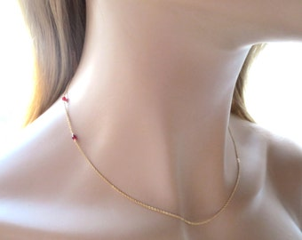 Vampire, Bite, Necklace, Gold filled, Sterling silver, Gold, Silver, Necklace, Blood, Tooth, Bite, Necklace, Modern, Movie, Gift, Jewelry