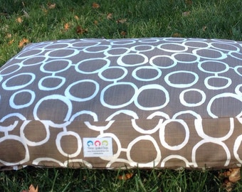 Mocha Dog Bed * Small Medium * Brown * Personalize Pups Name * Custom Sizes * Pillows * Embroidery * TSD
