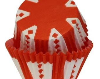 CARNIVAL Orange Cupcake Papers