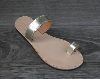 Bethany Gold Slip on Sandals