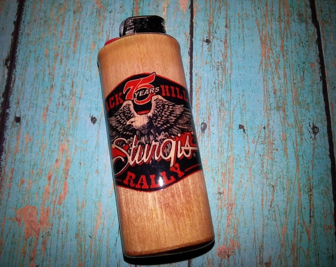 Sturgis 75th Anniversary 2015 Black Hills Rally Bic Lighter Case, Holder, Sleeve, Cover