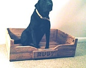 Beautiful Hand made Wooden Dog Bed (Large)