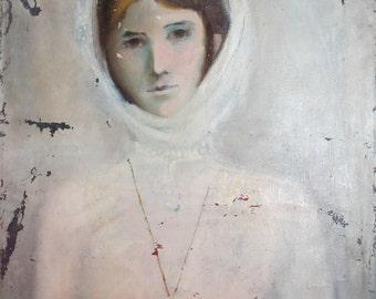 1986 Female portrait oil painting signed