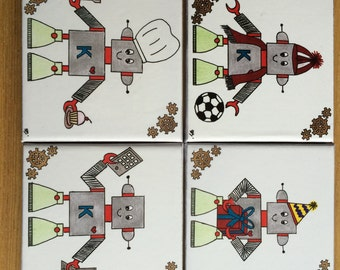 Robot Tile Coasters