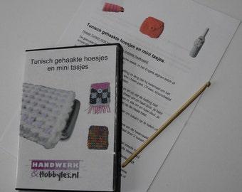 Education Kit Tunisch crochet sleeves and mini bags