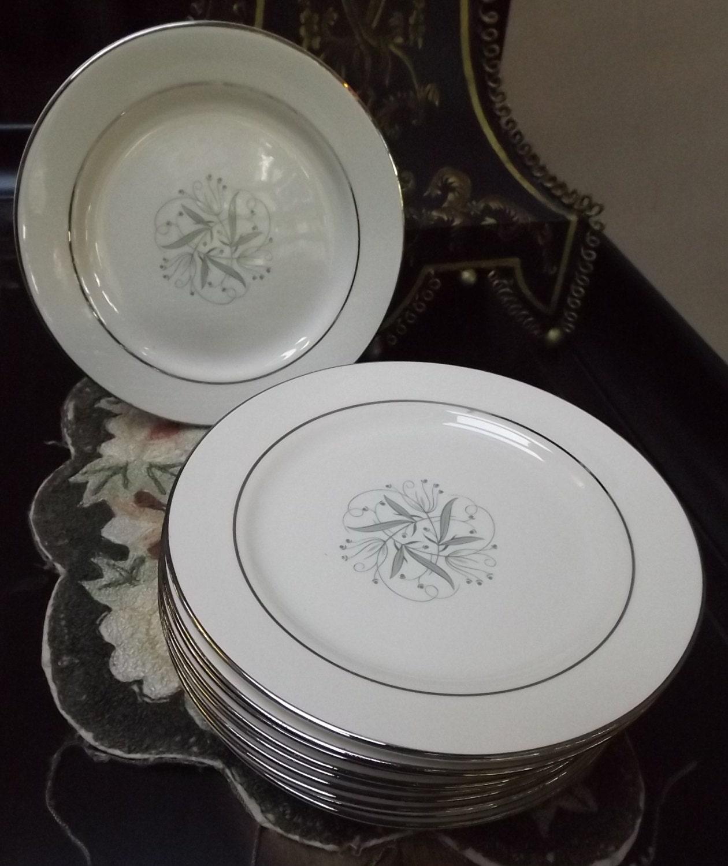 1950s Dishes: 1950 Homer Laughlin China Celeste Dinner Plate Mid Century