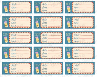 Planner Stickers - IEP (Individual Education Plan) or 504 Plan Meeting Stickers