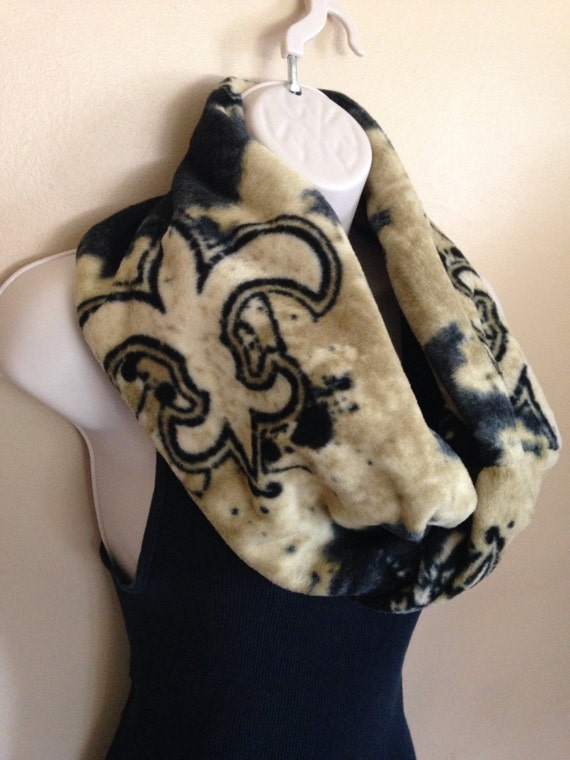 new orleans saints infinity fleece scarf by sewdivine77 on