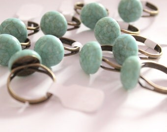 Faux Turquoise Cabochon Ring