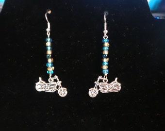 Handbeaded Motorcycle Earrings