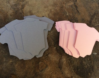 Select Your Two Colors* Onesie Die Cut* Baby Shower Die Cuts* 24 Tags* Scrapbooking* Embellishment* DIY Cupcake Toppers* DIY Garland